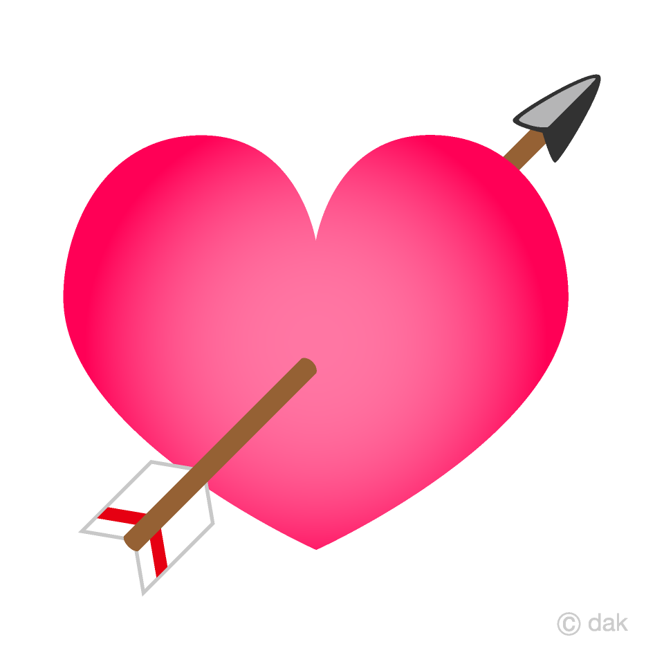 Arrow Heart Clipart Free Picture|Illustoon.