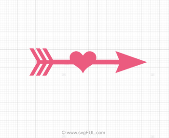 Arrow Heart Svg Clip Art.