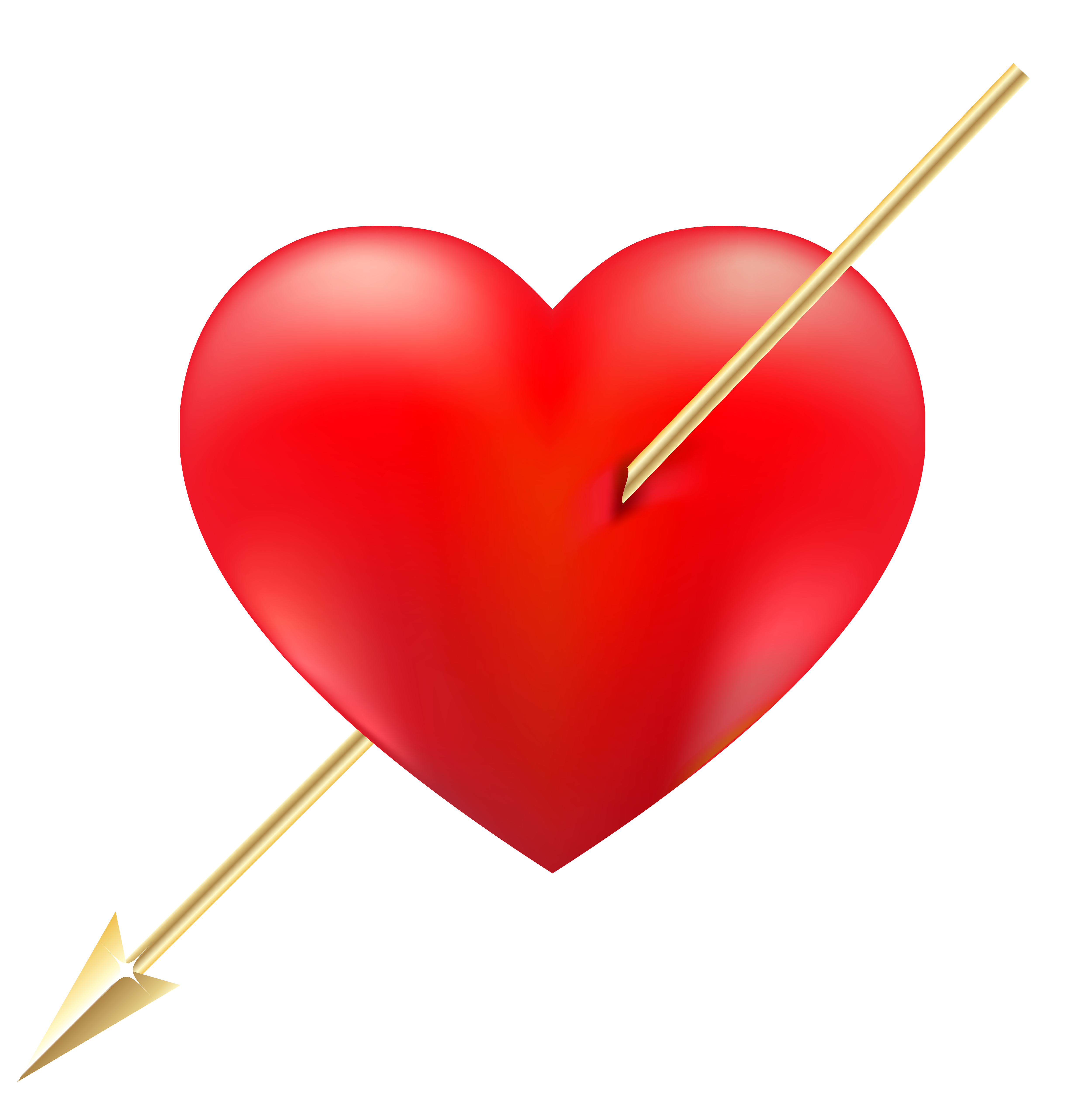 Red Heart with Arrow PNG Clipart.