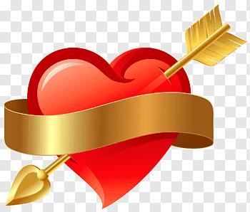 Gold heart illustration, Gold Heart, golden heart free png.