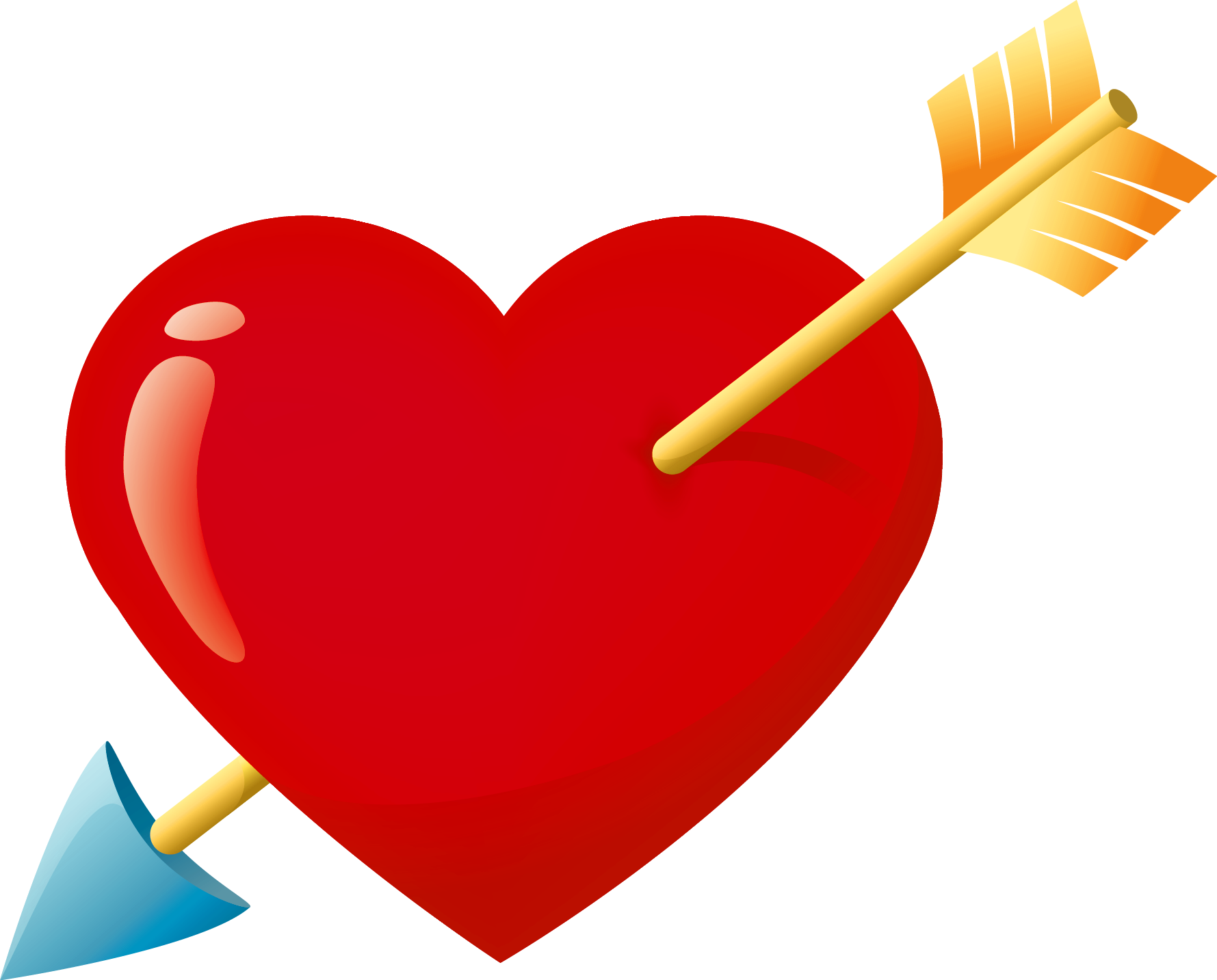 Free Heart With Arrow, Download Free Clip Art, Free Clip Art.