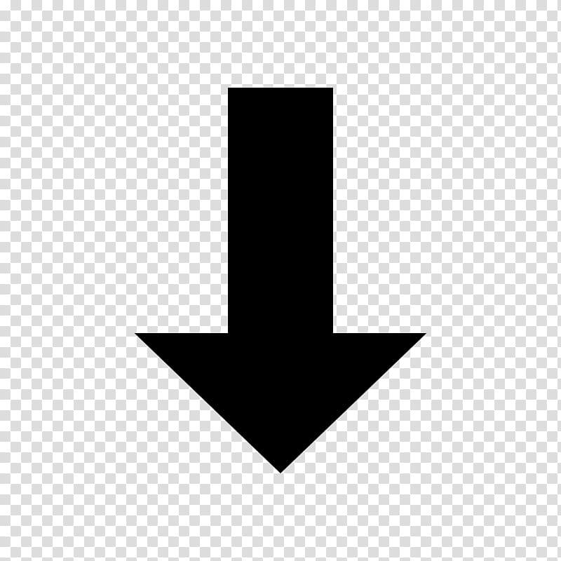 Symbolize, arrow down illustration transparent background.