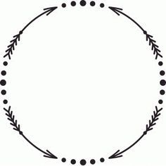 arrow monogram circle clipart #1.