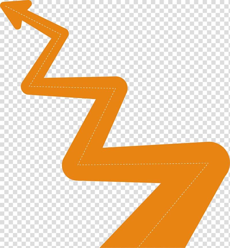 Technology roadmap Arrow Icon, Arrowhead decoration.