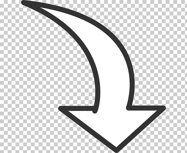 Curve Computer Icons Drawing , Black Arrowhead s PNG clipart.