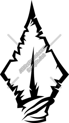 7 Arrowhead Vector Clip Art Images.