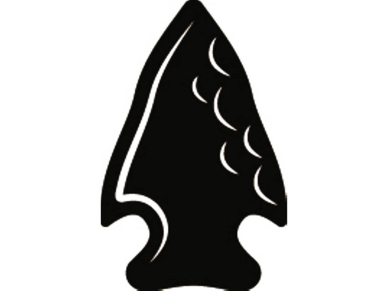 Indian Arrowhead #1 Native American Warrior Weapon Rock Stone Feather Tribe  Tattoo Logo.SVG .EPS .PNG Clipart Vector Cricut Cut Cutting File.