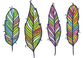 Indian Feather Free Vector Art.
