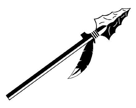 Arrowhead clipart spear.