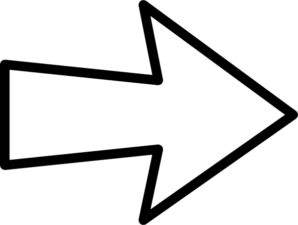 White arrow clipart.