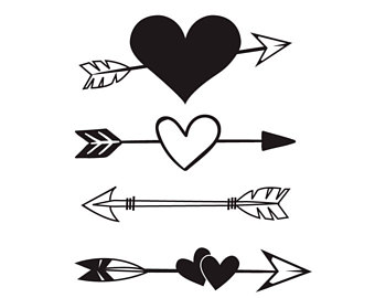 Arrows clipart heart, Arrows heart Transparent FREE for.