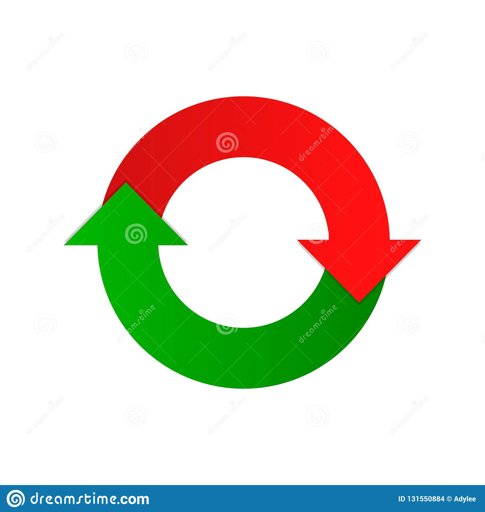 Vector Arrows Two Direction Reload Icon Circle Stock Photo.