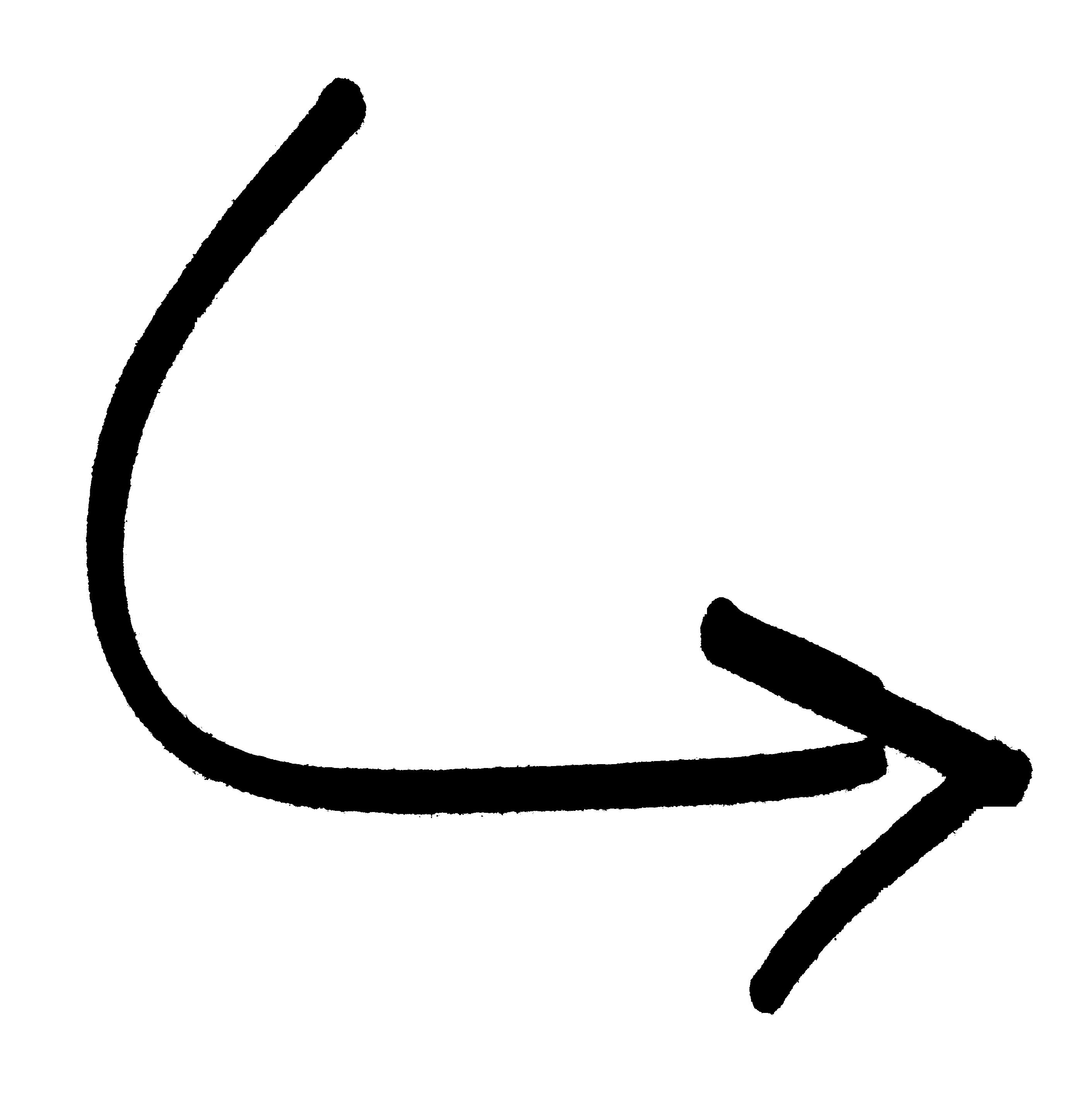 Black Curved Arrow Clipart.