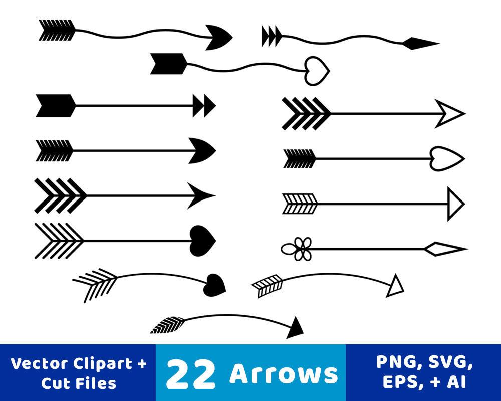 22 Arrows Clipart, Rustic Arrow Clipart, Arrow SVG, Wedding Clipart, Vector  Arrows, Arrow Graphics, Decorative Arrows, Commercial Use.