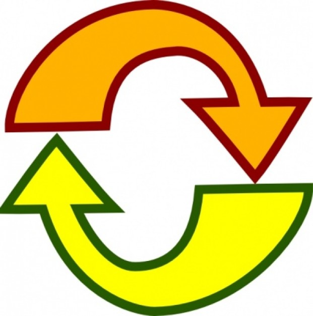 Cycle arrows clip art.