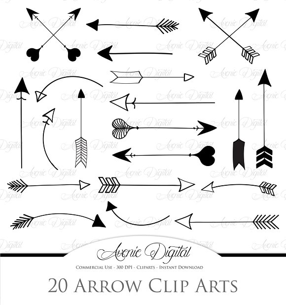 Arrows Clipart and Vectors ~ Illustrations on Creative Market.