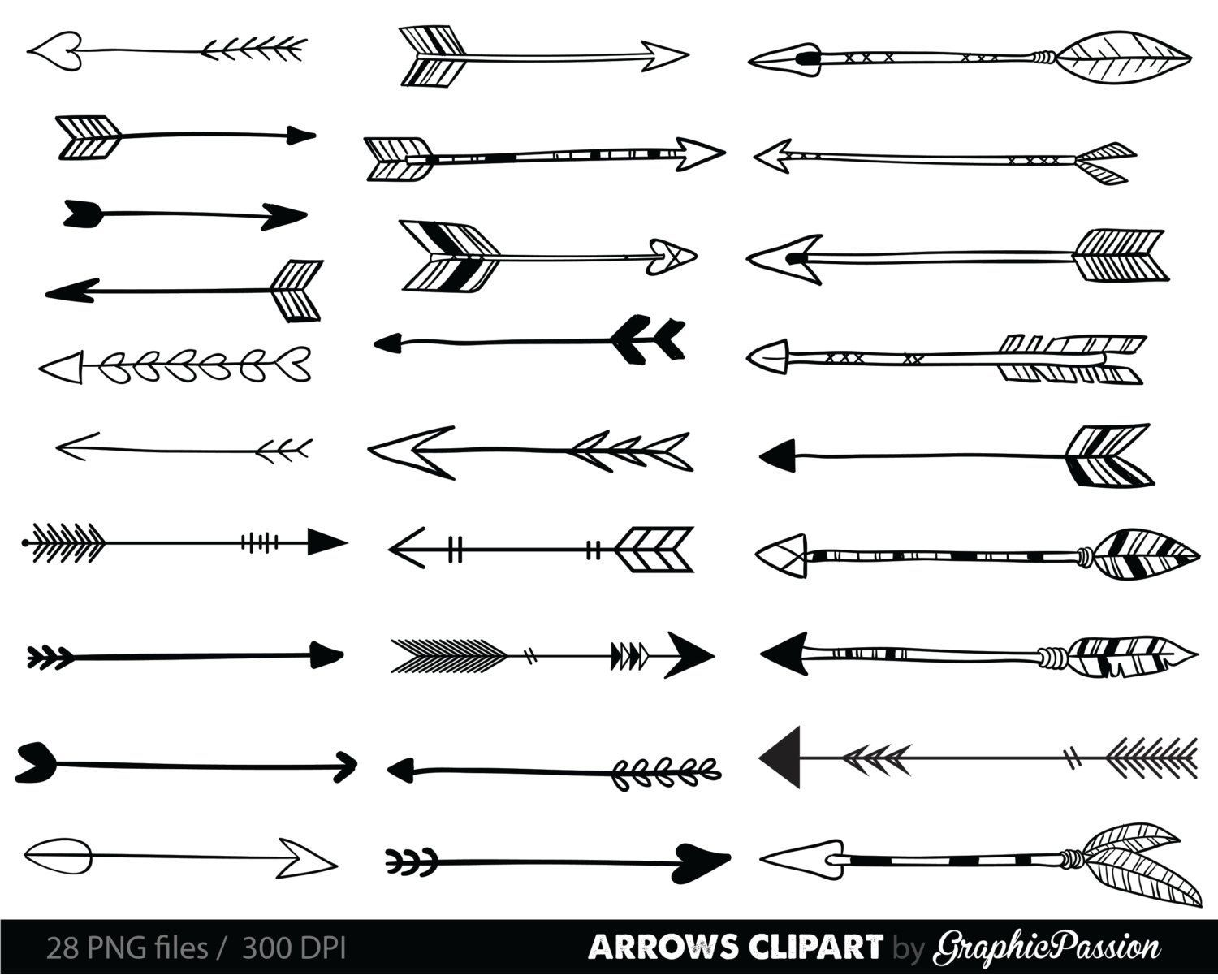 Image result for fun arrows clipart black and white.