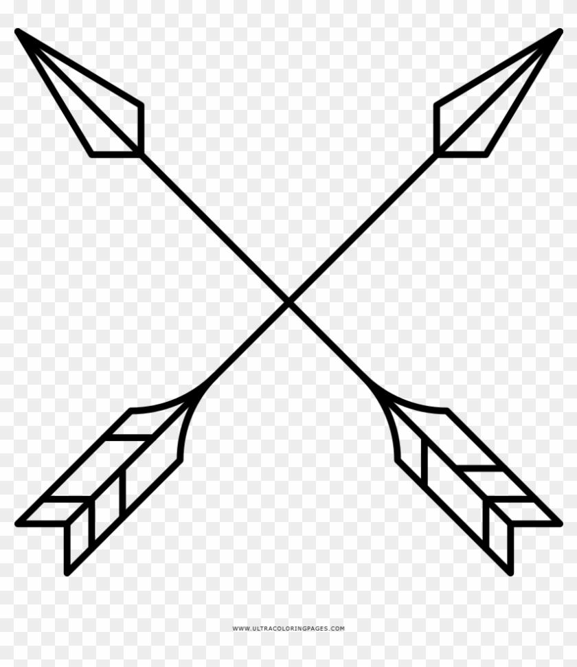 Cross Arrows Coloring Page.