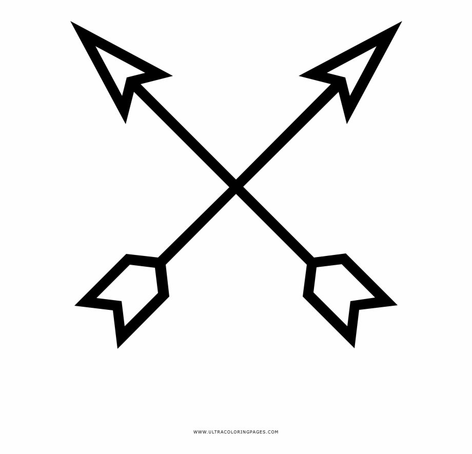 Crossed Arrows Coloring Page.