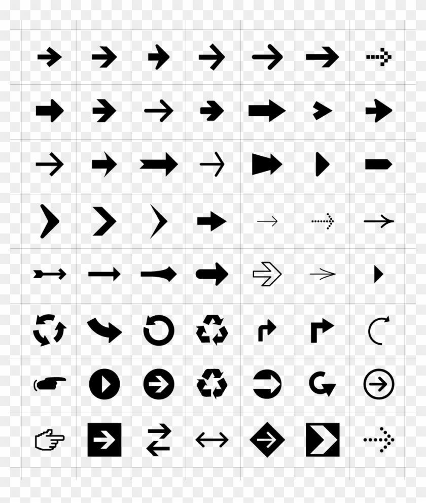 Arrow Symbols Icons.