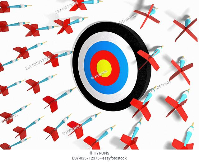 Arrows missing target Stock Photos and Images.