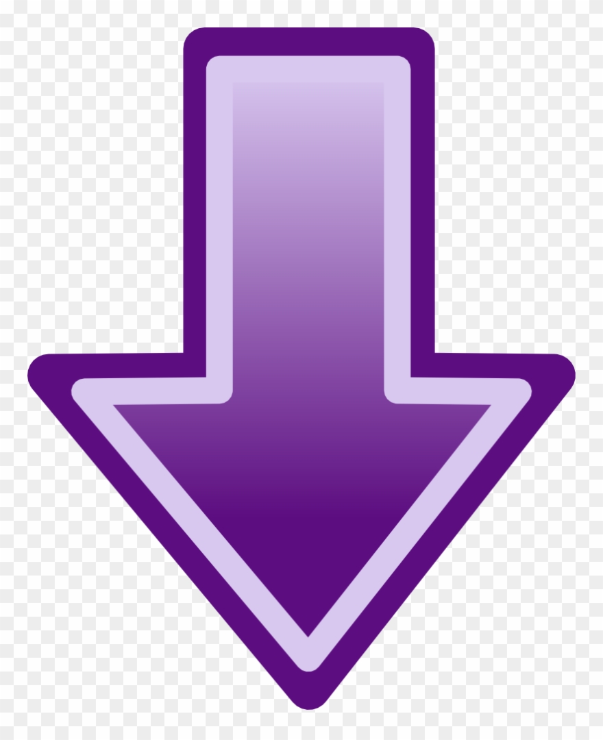 Purple Arrow Pointing Down Clipart (#2042032).