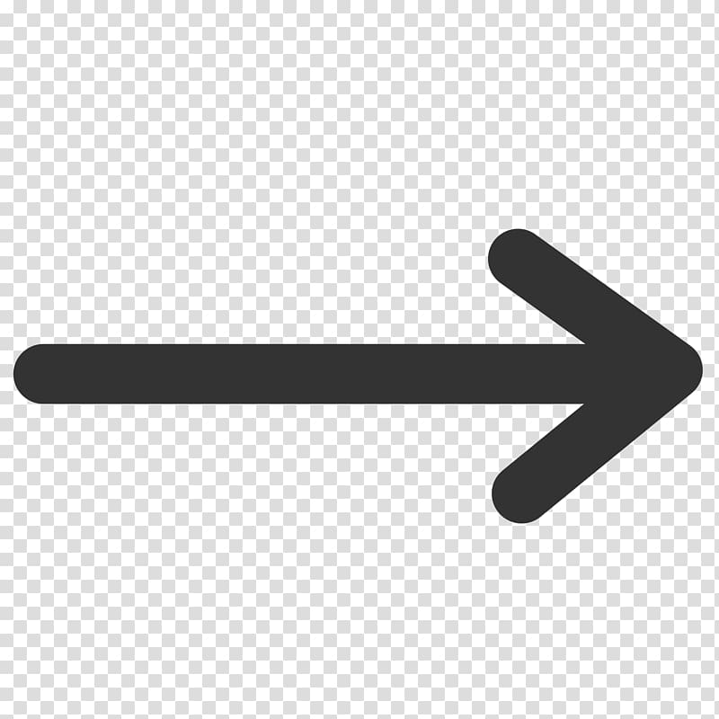 Right arrow , Simple Rounded Arrow Right transparent.