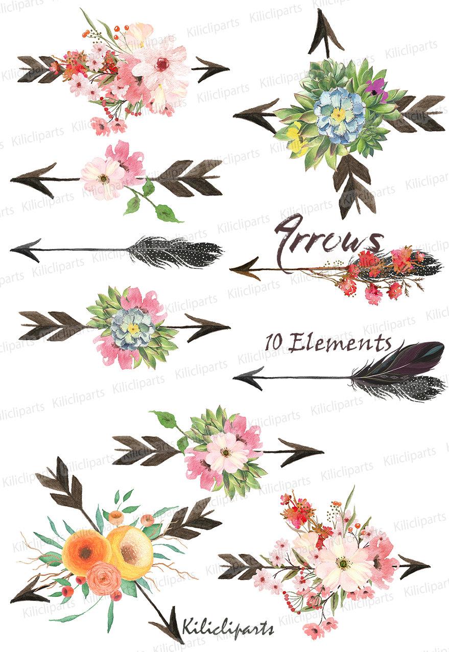 Arrows clipart flower, Arrows flower Transparent FREE for.