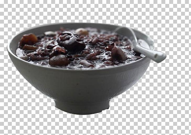 Laba congee arroz y frijoles, papilla, frijoles negros y.