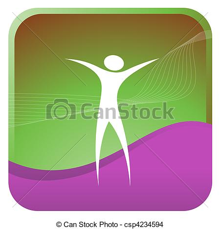 Clipart Human With Open Ars.