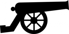 Arsenal cannon clipart.