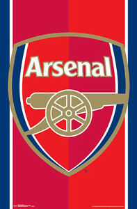 Details about ARSENAL FC Official Gunners EPL Premier League Team Crest  Logo Wall POSTER.