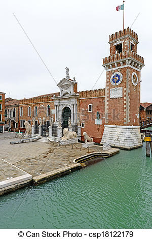 Picture of Porta Magna, venetian arsenal (Venice, Italy).