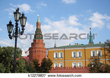 Picture of Arsenal Kremlin Tower, Moscow Kreml k12279807.