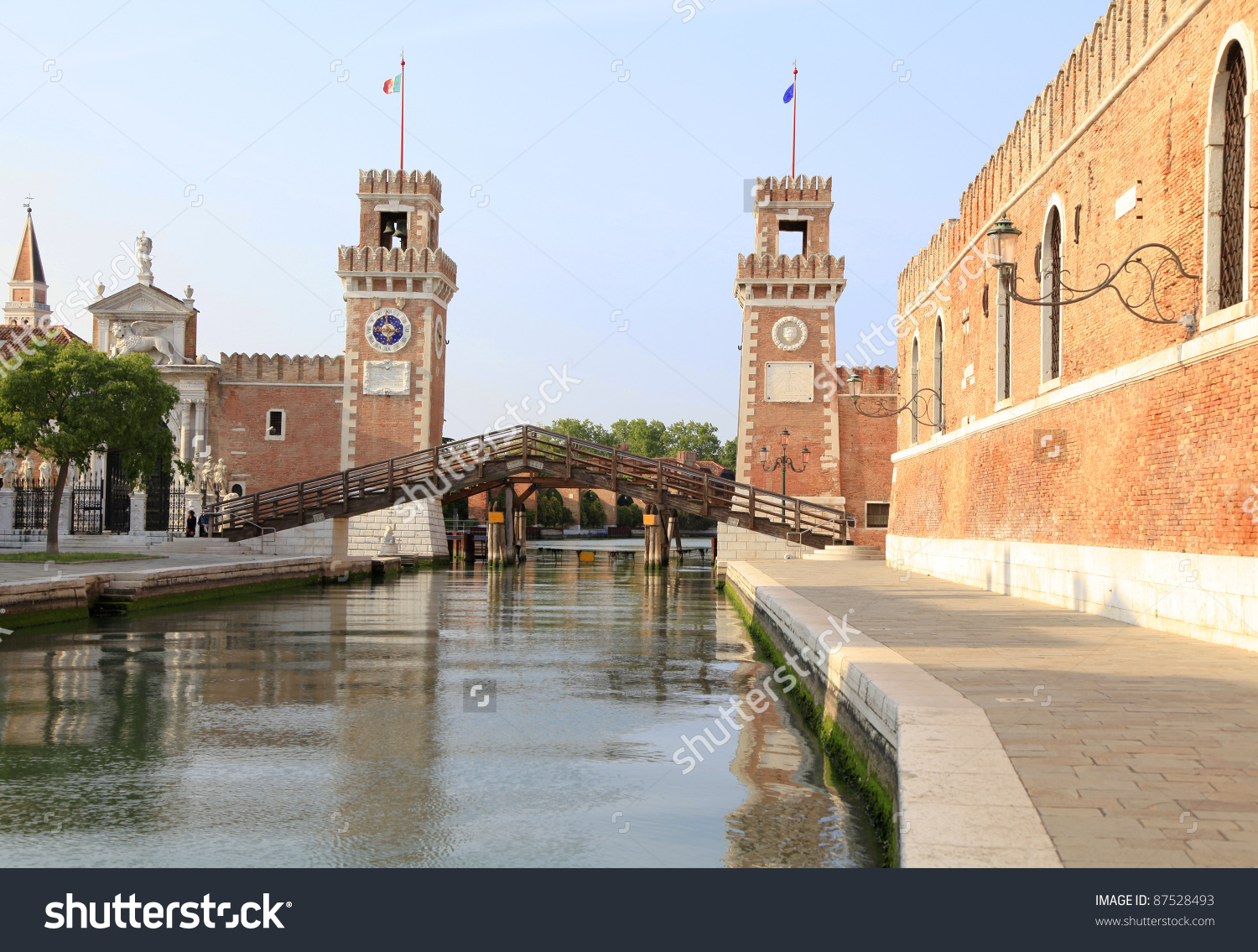 Arsenal Towers In Venice, Italy Stock Photo 87528493 : Shutterstock.
