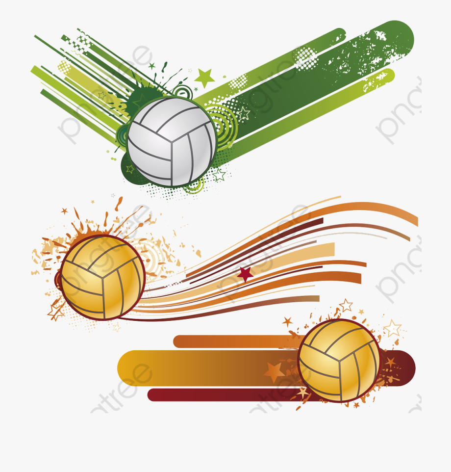 Volleyball Clipart Gold.
