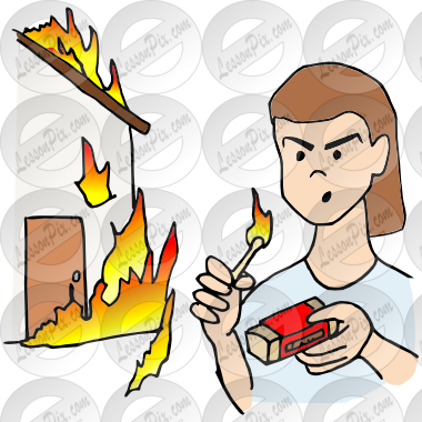 Arson Picture for Classroom / Therapy Use.