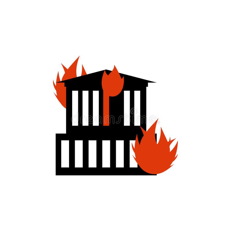 Arson Stock Illustrations.