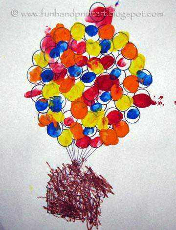 Disney Pixar's Up Thumbprint Crafts.