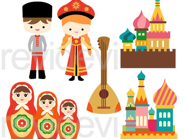 Russian Culture Clip Art Graphics.