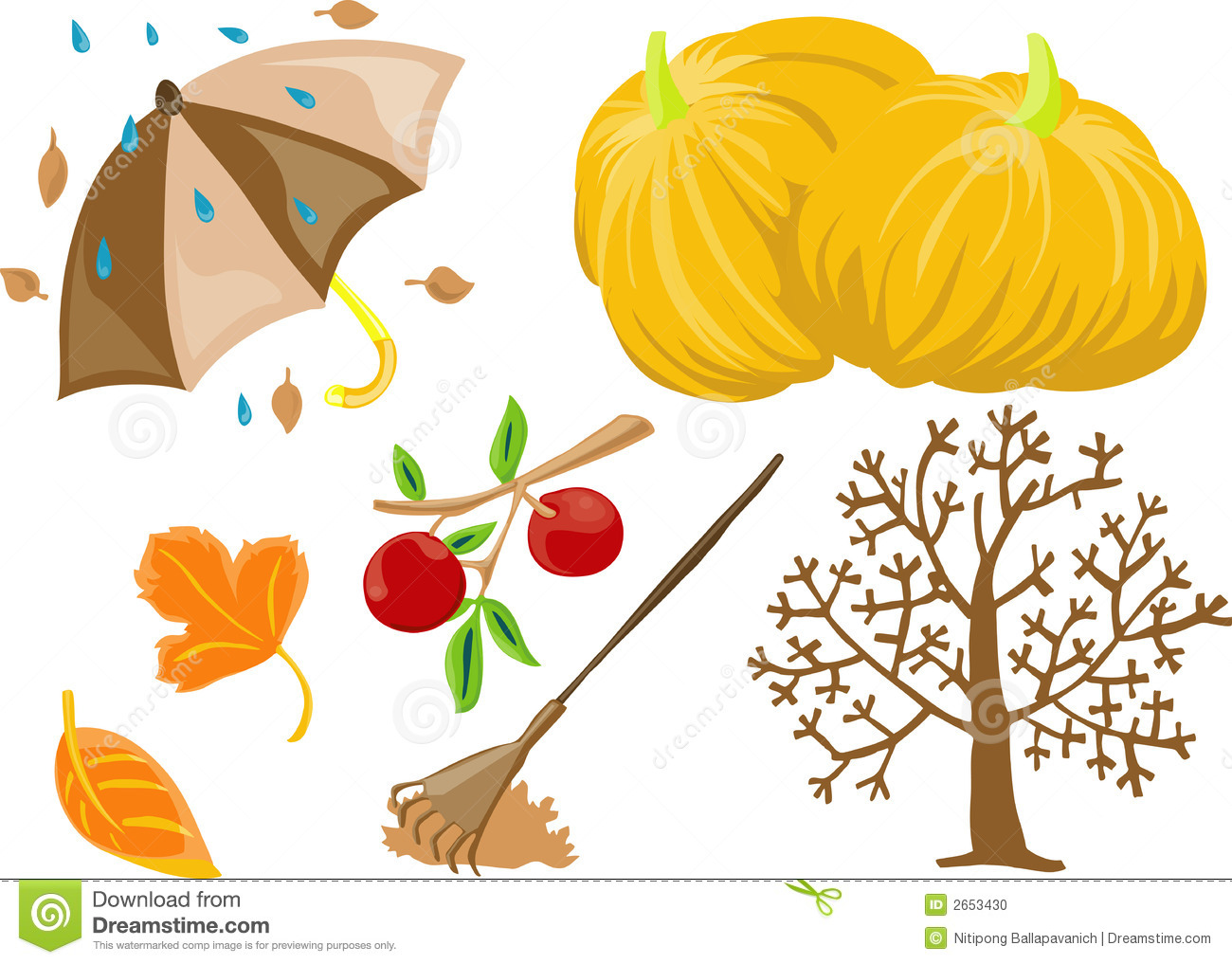 Clip art for autumn.