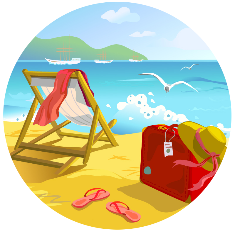 Beach Summer Clip art.