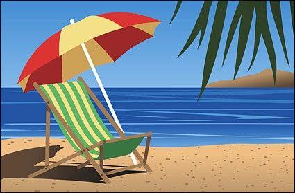 Beach Scene Clip Art.