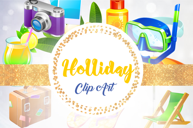 Summer Clipart, Summer Clip Art, Beach Clipart, Beach Clip.