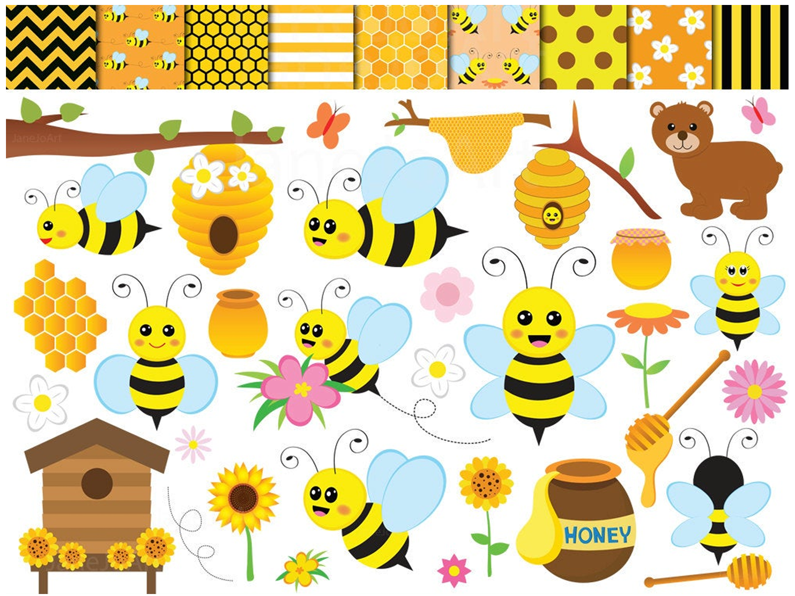 Bee Clipart , bees Clipart, Honey bees clip art , Bee.