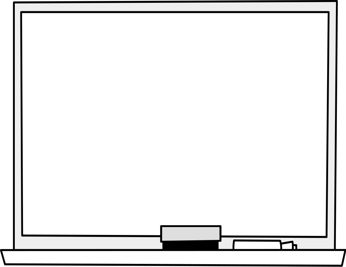 Whiteboard With Eraser Clipart.