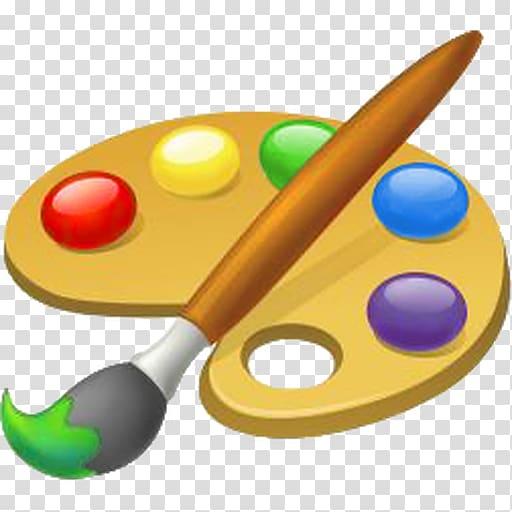 Paint palette and brush , Painting Palette Art , paint brush.