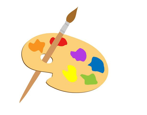 Paint Brush Clipart Free Stock Photo.