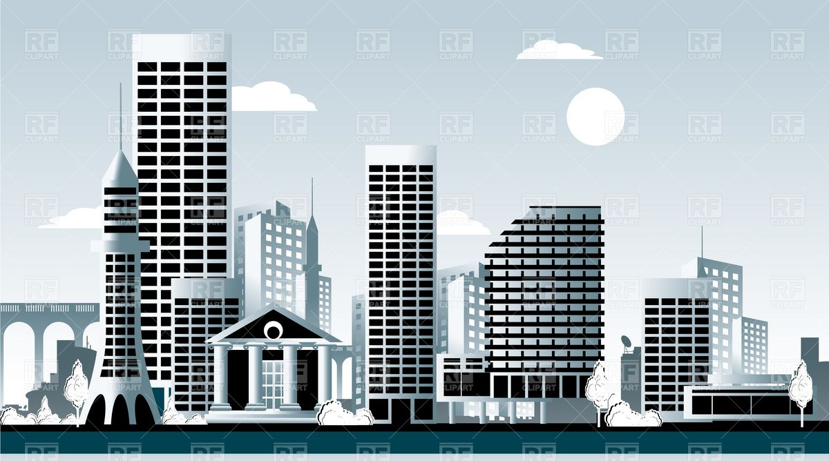building clipart vector #10