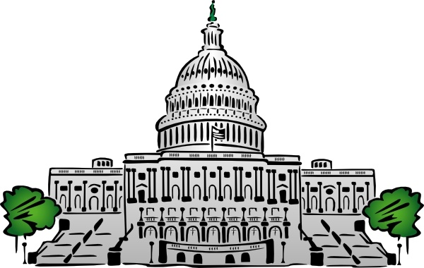 Us Capitol Building Clipart Style clip art Free vector in.